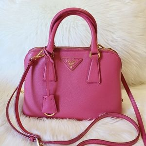 Prada Promenade Bag Saffiano Leather Pink